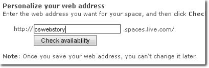 Determine your Windows Live Spaces blog name