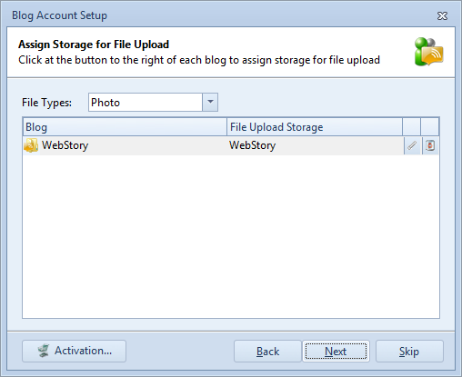 Assign picture storage