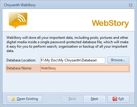 Create your first WebStory database