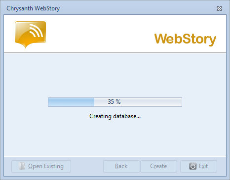 Your WebStory database is ready to be created