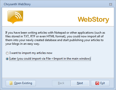 Import your existing articles into WebStory