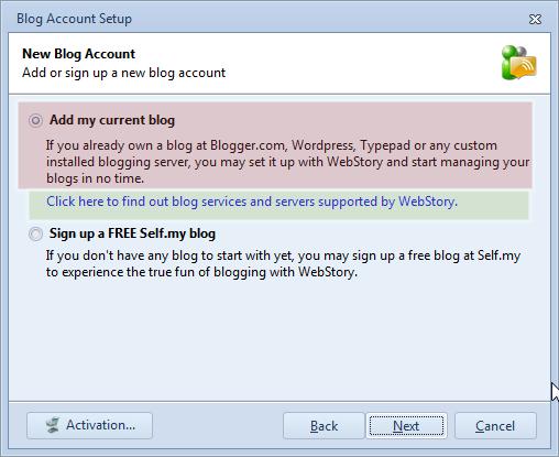 Add existing blog