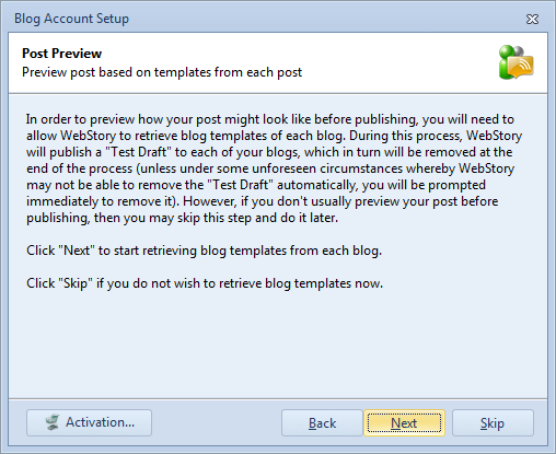 Instruction on enabling post preview