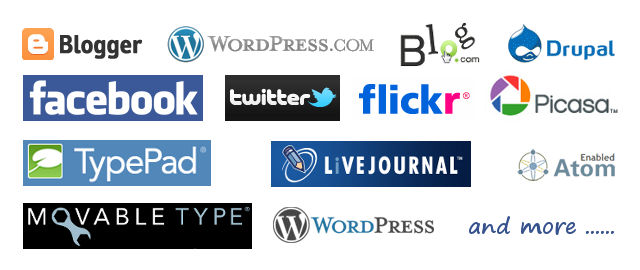 Blog services and blog servers supported by WebStory
