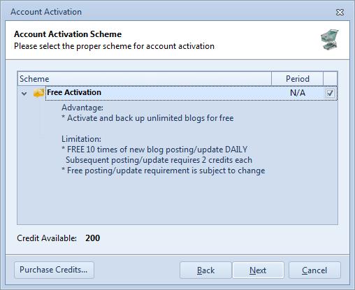 Free Activation Scheme
