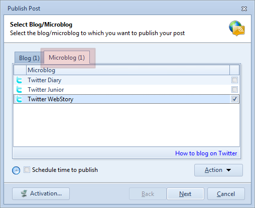 Publish blog post to Twitter