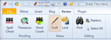 Setting Article Draft Status via Blog Editor Menu